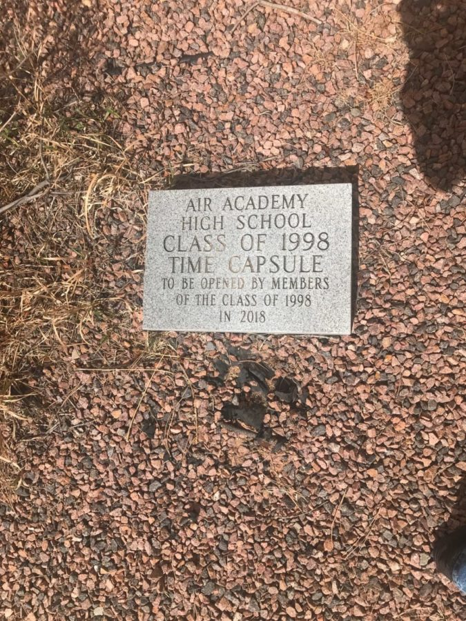 The 1998 time capsule outside D building. Photo courtesy of Dylan Featherston.