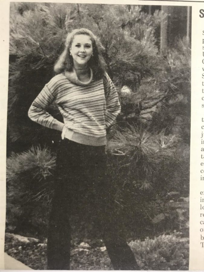 Nicole Shields, student at AAHS in the 80s, rocks hoops and a turtle neck!