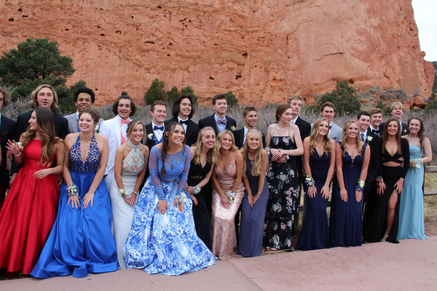 Seniors at Prom! Original Photo by Mrs. Landin