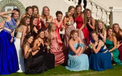 Girls posing for a picture from Prom 2017.