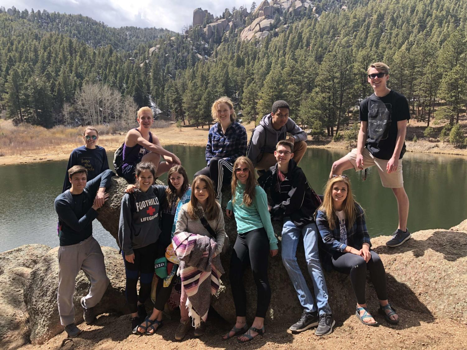 Air Academy kids go hiking and hammocking.