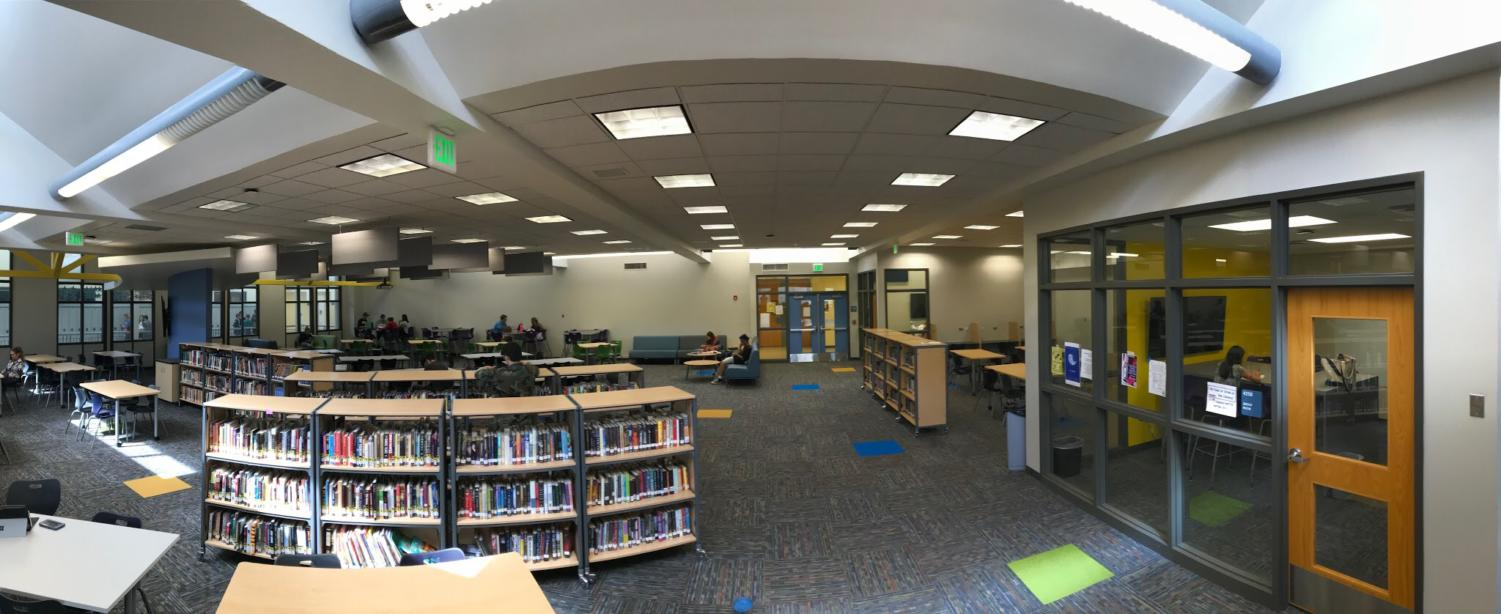 This is the new library, it was just remodeled over the summer.
