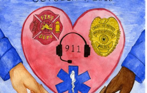 Students Support First Responders in Art Contest