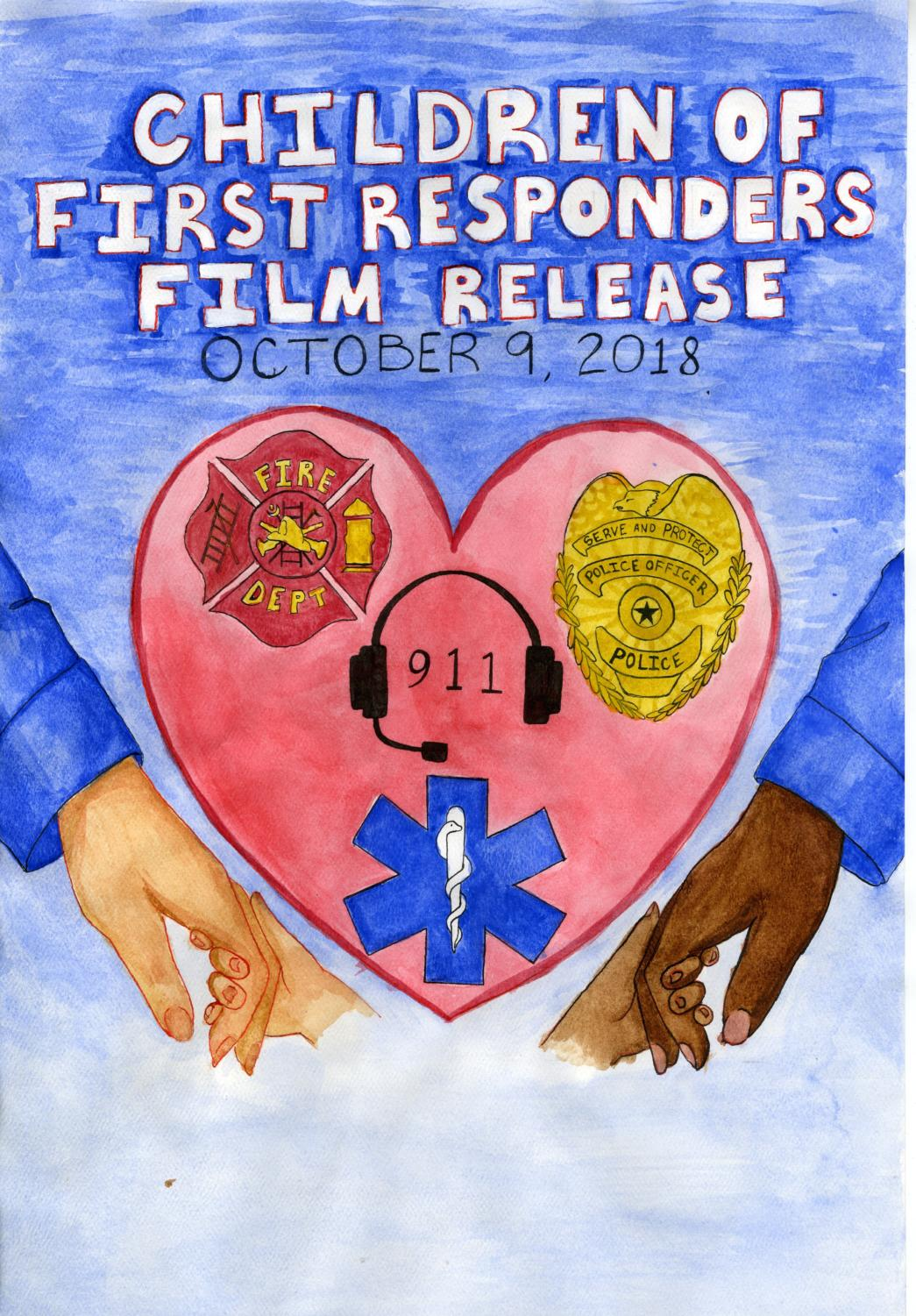 This is an art piece by senior Taya Carlson, for the First Responder's Art Contest (Oct. 9, 2018).