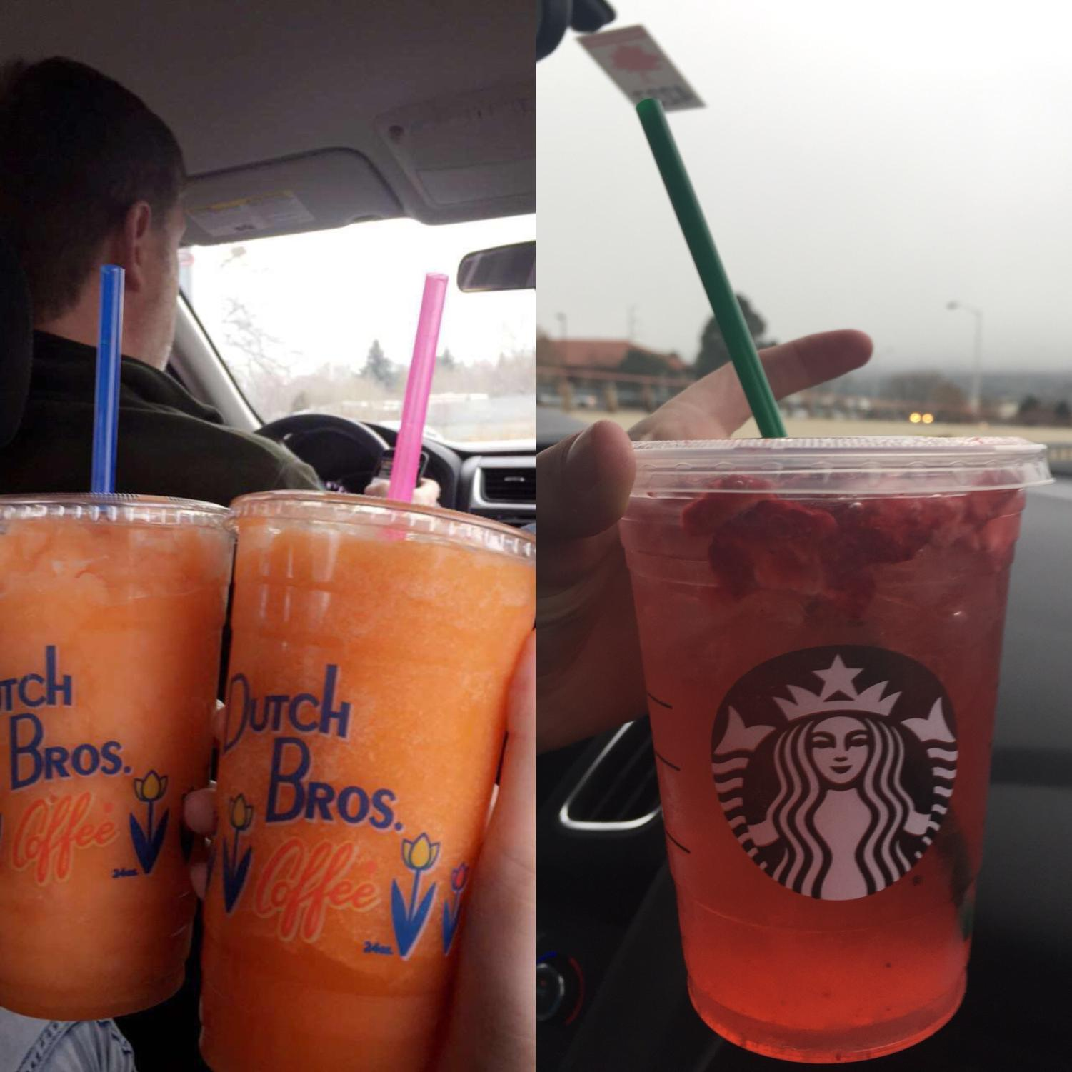 Two popular drinks from the two competitors.