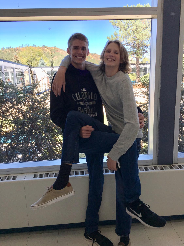 Senior twins Justin and Austin Graham
