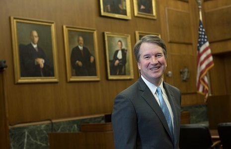 Judge Brett Kavanaugh was confirmed to the Supreme Court on Oct. 6. Labeled for reuse.