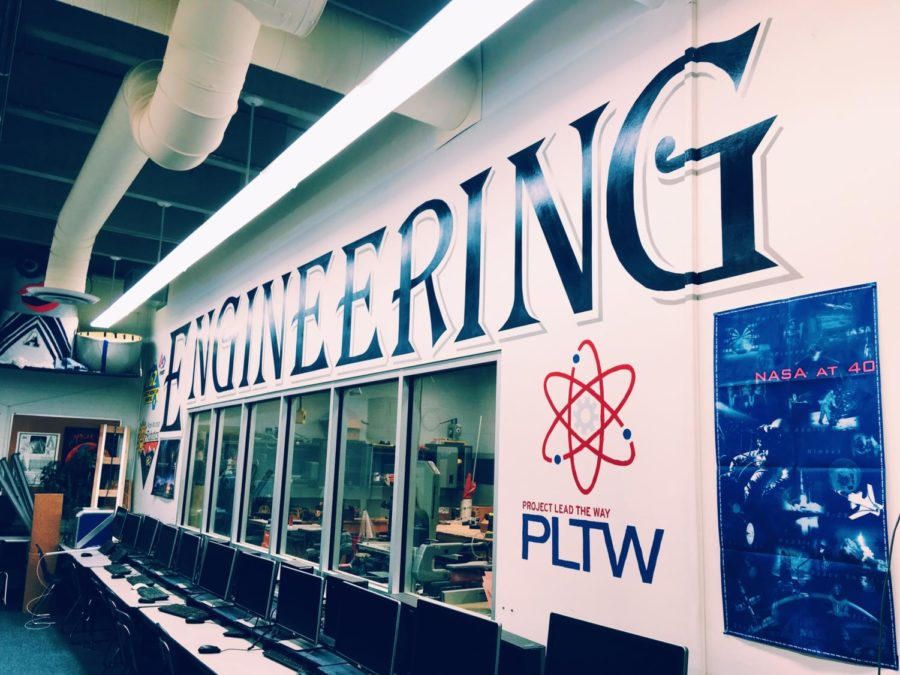 The new engineering hyper-lab filled with high-tech equipment