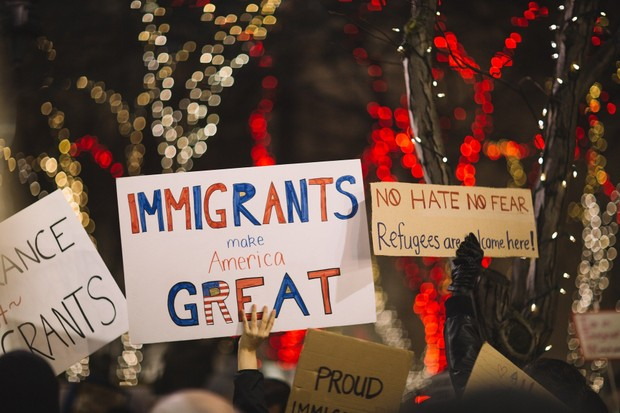 Protesters+rally+to+fight+against+the+immigration+policy.+
