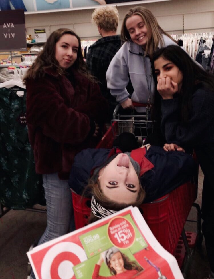 Juniors Callissa Steel, Brayden White, Parmida Madahvi, Nicole Lindsay and Molly Carroll go Black Friday Shopping at Target.