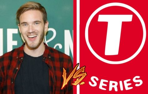 Famous Youtube star and large media company in competition: PewDiePie against T-Series. Image courtesy of Dexerto labeled for reuse.