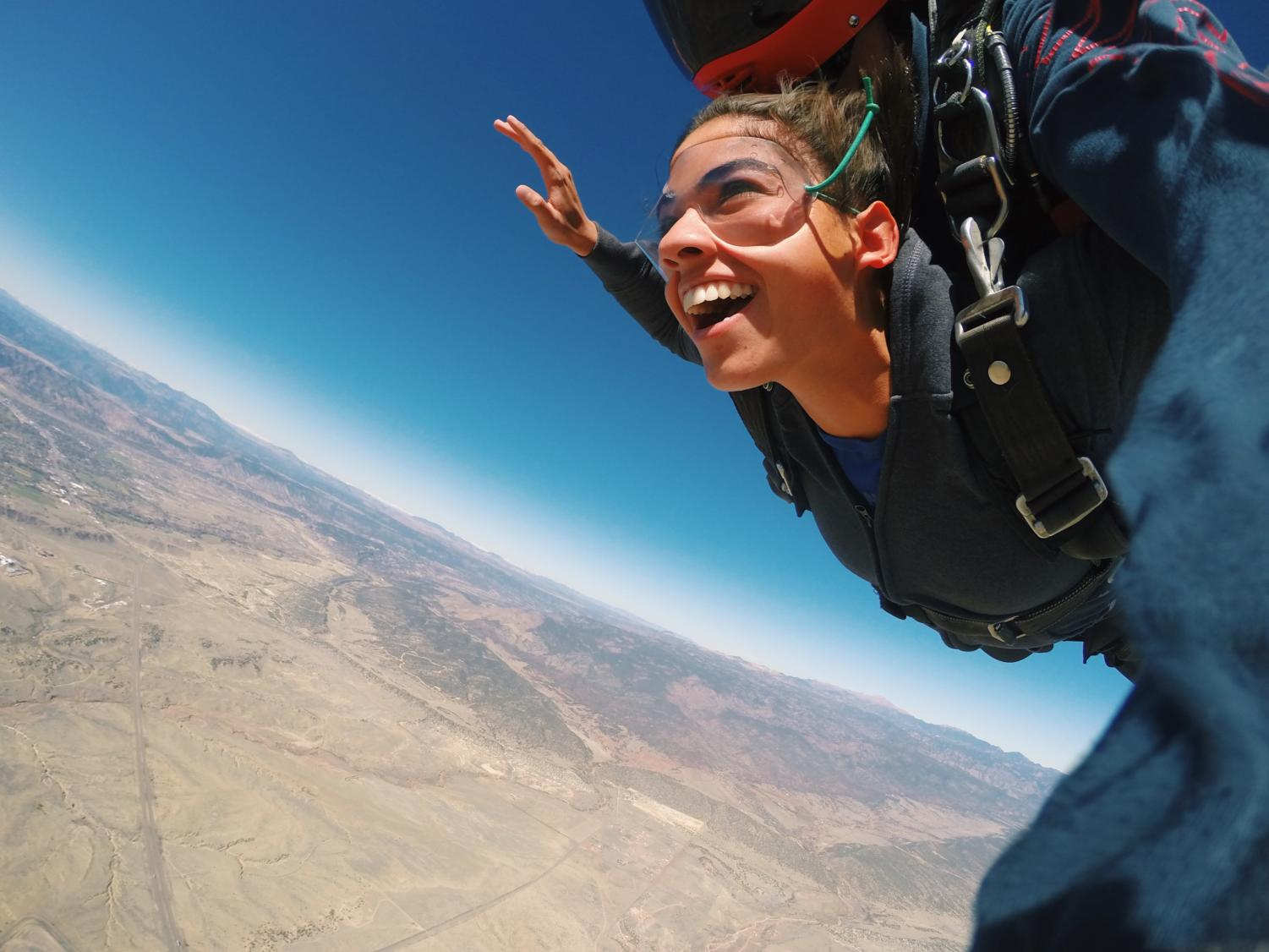 Senior Lily Boice goes on a skydiving adventure.