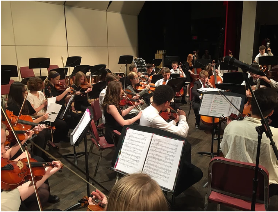 Air Academy students along with other D20 students enjoy playing music in the Pikes Peak Honors Orchestra.