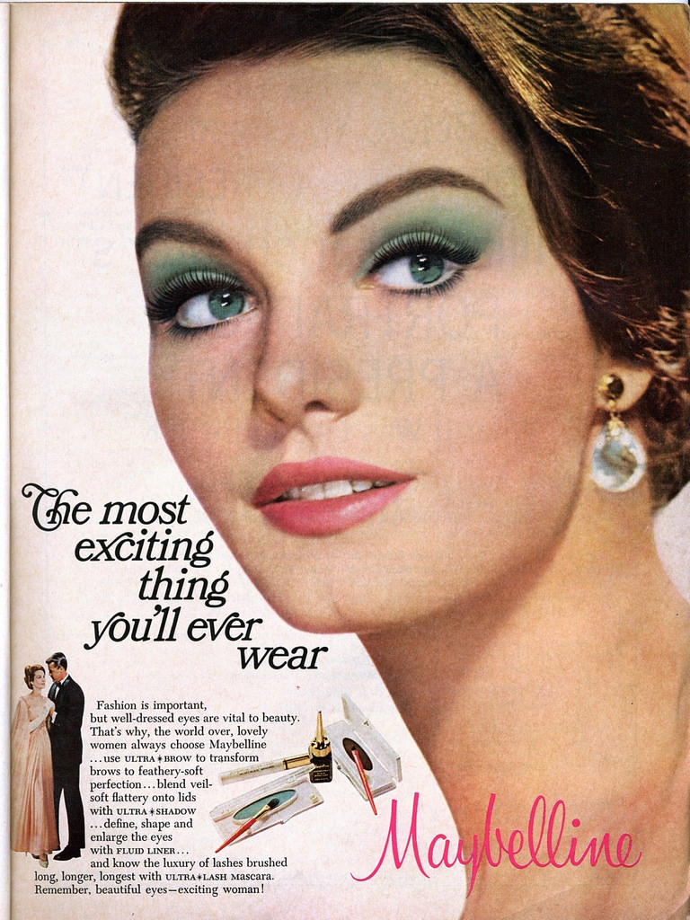 A Maybelline Cosmetics advertisement from 1967 for