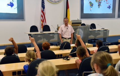 Students learn in an American school in Germany. Labeled for reuse by www.army.mil.