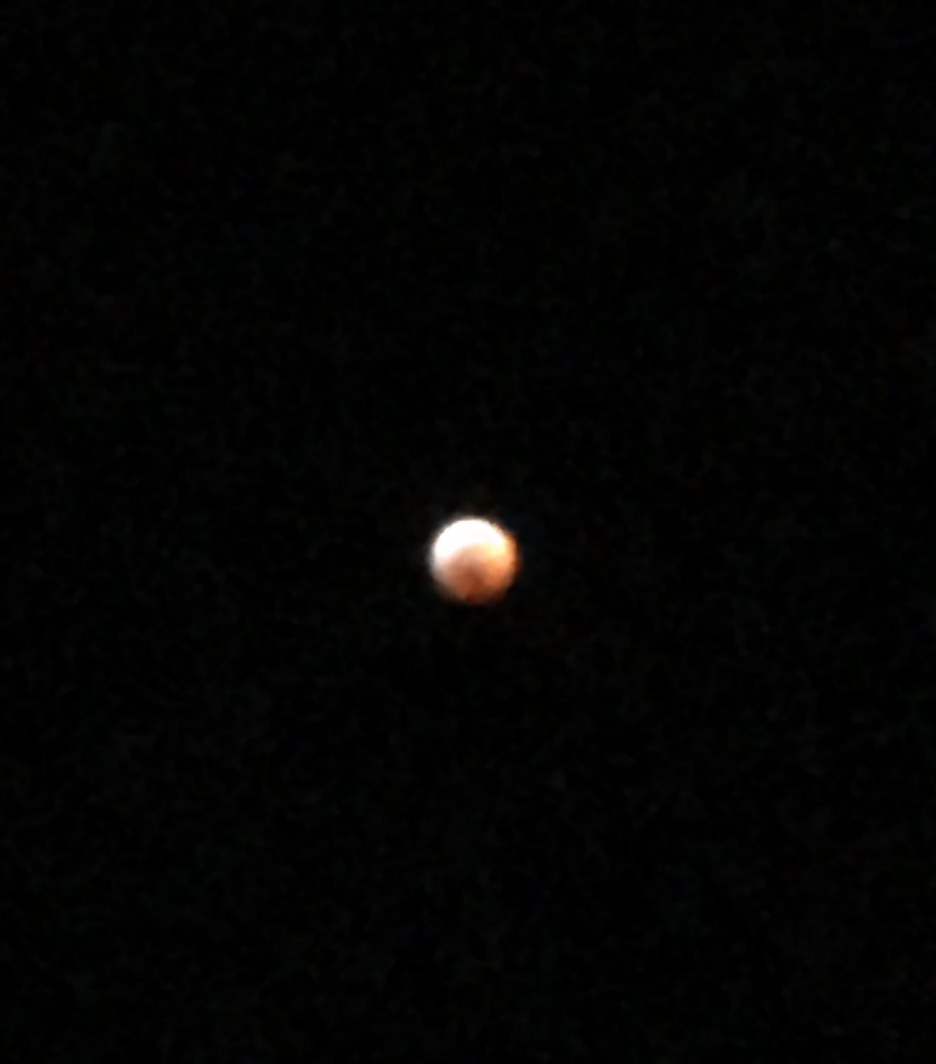 The moon turns red during a lunar eclipse on January 20th, 2019!