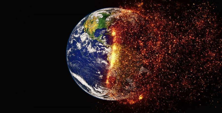 A symbol of the extreme heating trend on Earth. Labeled for reuse by Pixabay