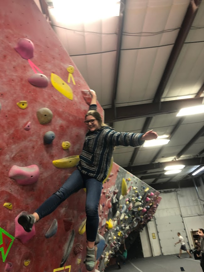 I think doing that Im not the best at has really humbled my take on trying new things, said Junior Anna Zapel, who has been doing climbing with her friends.