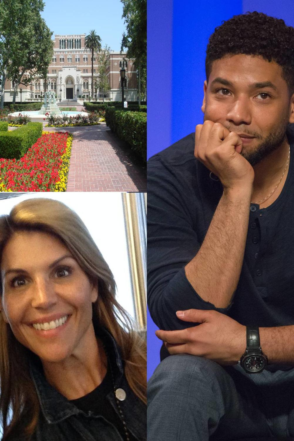 Jussie Smollett and Lori Loughlin both cheated the system. Loughlin's daughters both attended USC and have not yet been expelled. Images labeled for reuse.