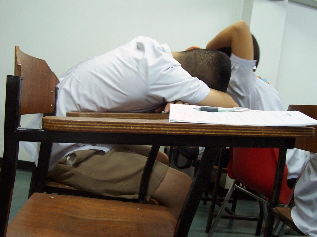 Sleeping in class can affect students' quality of work.