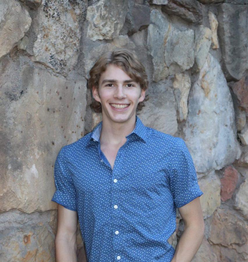 Senior Alex Maline poses for his senior photoshoot.