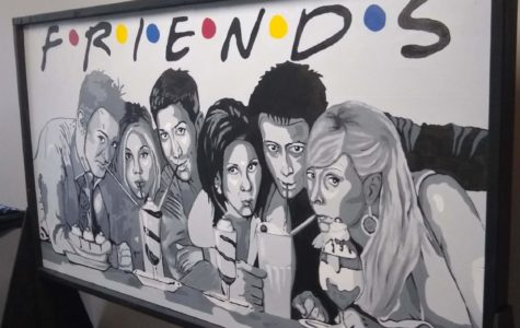 NAHS Students' Artwork is on Display in the Library