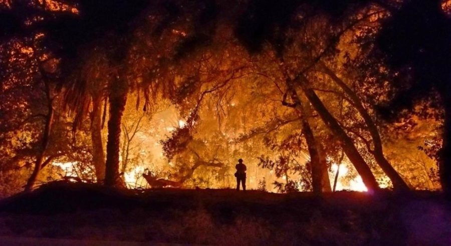 The California fire intensifies and is captured by Art Doyle, Senior Fire Fighter of the Los Angeles Fire Department.