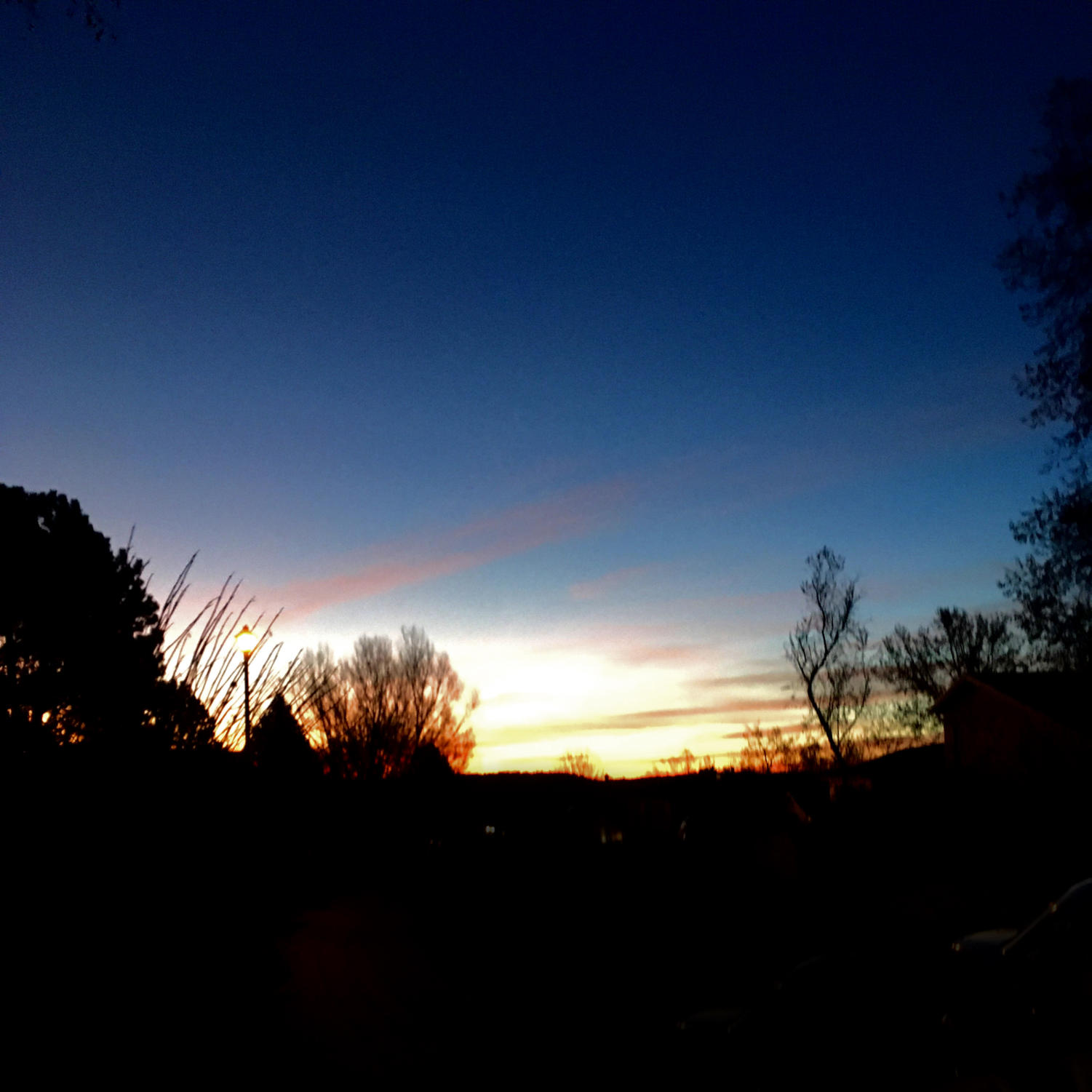 The Colorado sun sets for students and teachers to enjoy.