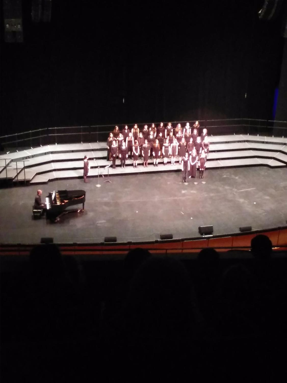 The Air Academy High School choir performs at the District 20 Choir Festival.