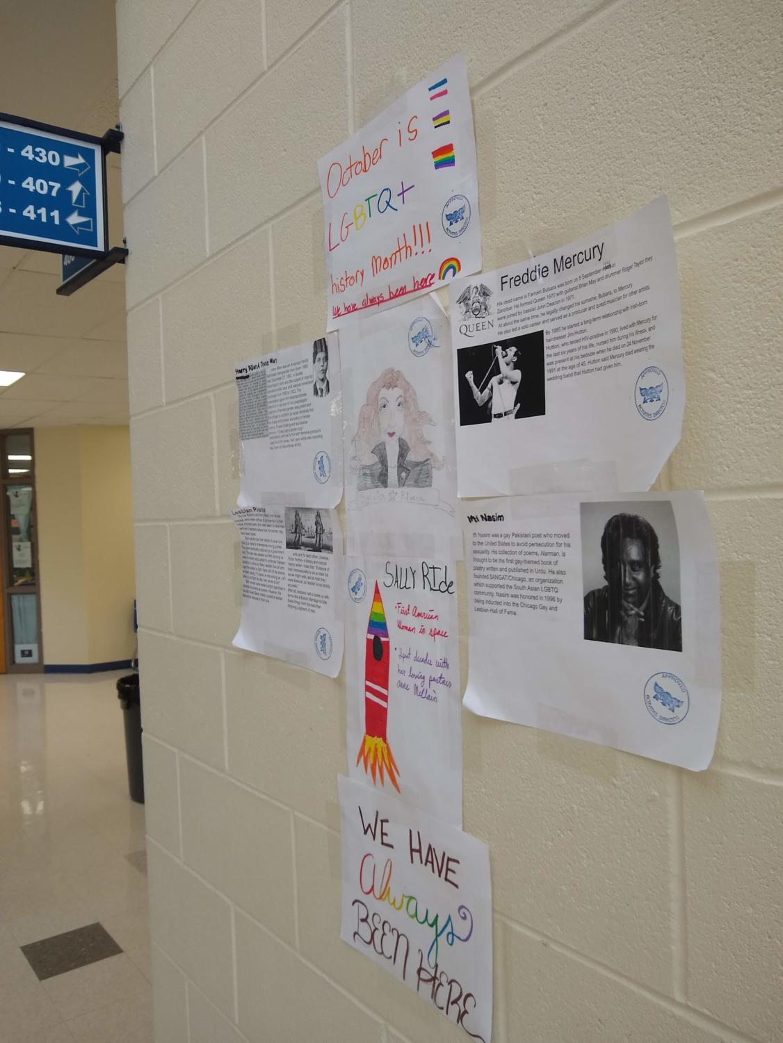 GTSA displays a timeline of famous LGBT people in October for National LGBT history month.