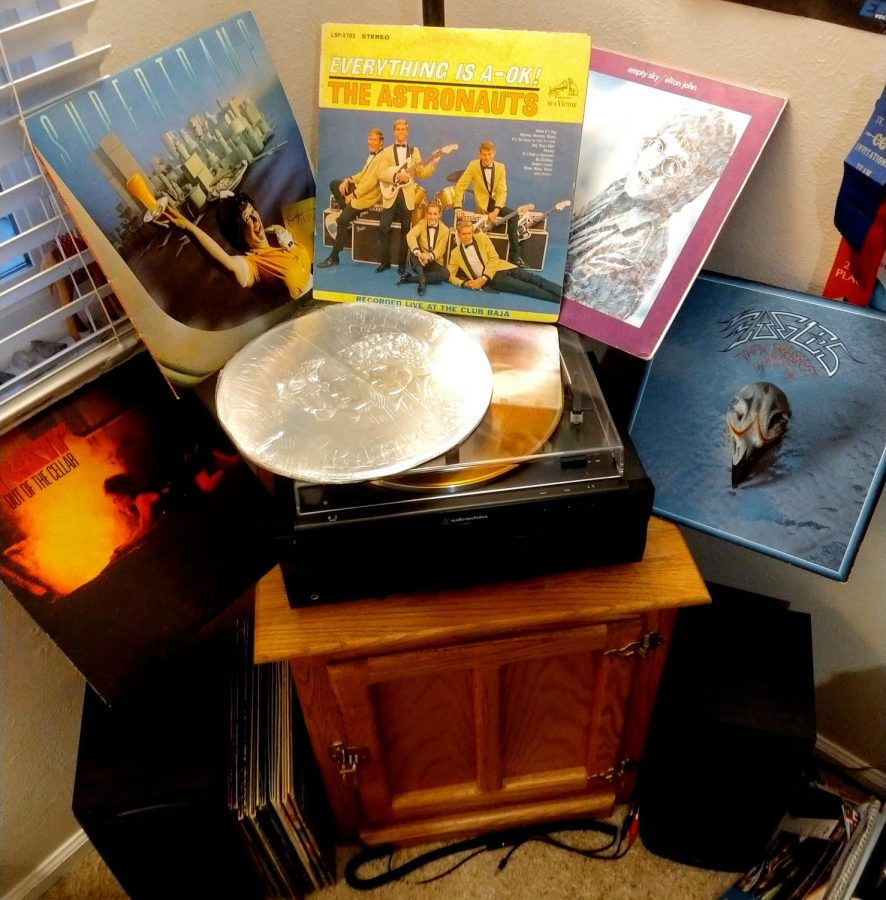 A few of Alex Maline's (my) records, graciously gifted by his Grandfather, Ron Wade. The shown records left to right and then center are: Ratt