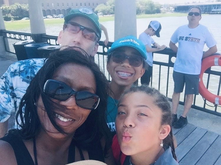 Sophomore Skylar Hagins and her family spend some time together in Charleston, South Carolina