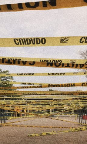 During the senior sunrise, the class of 2020 covered the whole school in caution tape to mark their territory for the year in the vibrant yellow.