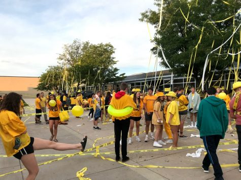 Seniors enjoy Senior Sunrise in August of 2019.