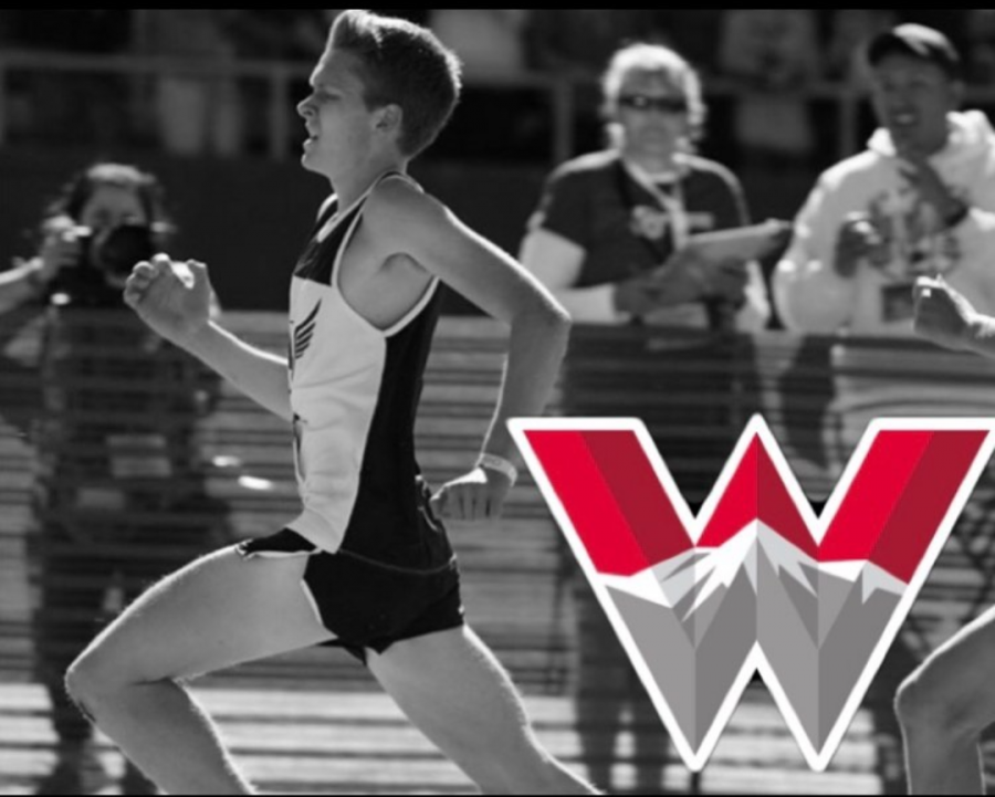 Senior+Matt+Storer+signed+for+cross-country+and+track+at+Colorado+Western+University.+Here+he+is+shown+out+sprinting+an+opposing+racer+at+the+2019+Colorado+State+Cross+Country+Championships.