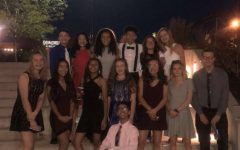 Several sophomores get ready to go to homecoming.
