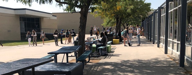 Air+Academy%27s+courtyard+is+a+common+gathering+place+for+students+during+the+day.+