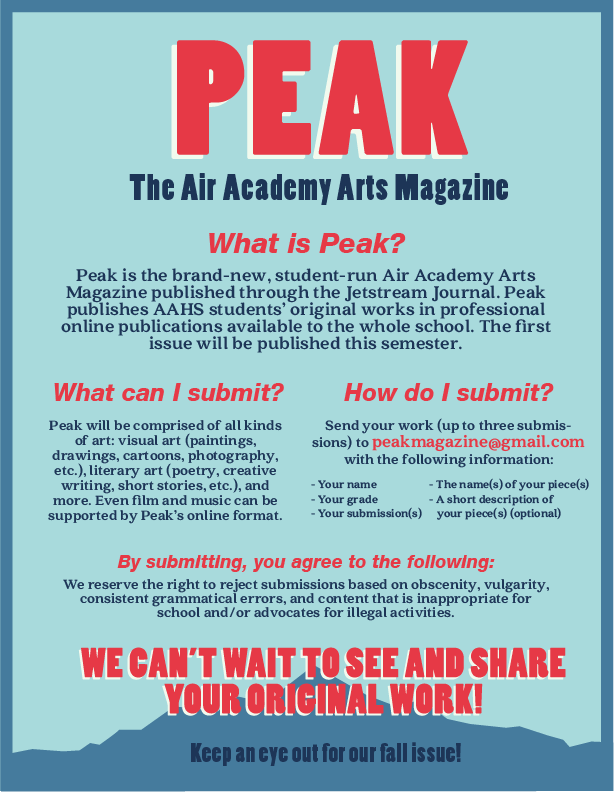 Peak Art Special Section Now Taking Submissions