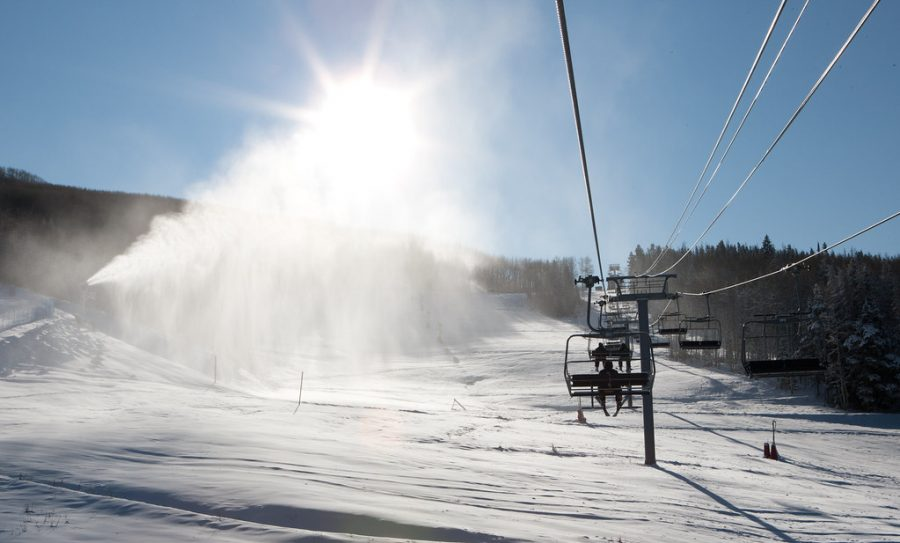 Vail Colorado Ski Resort after a snowfall on November 2, 2011 that will now not affect students because of e-learning.
