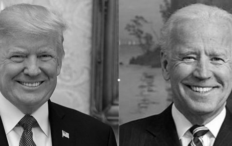 Labeled for Reuse. President Trump is pictured by Democratic Presidential Candidate Joe Biden.