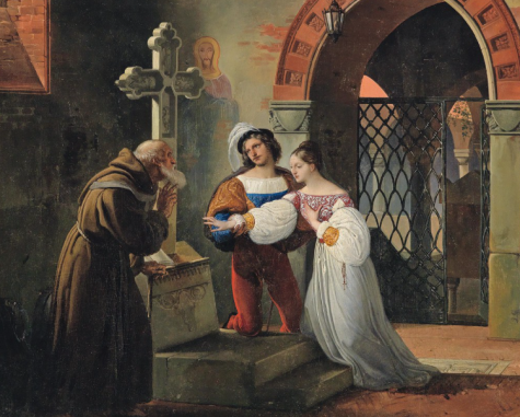 Labeled for reuse by Creative Commons. The marriage of Romeo and Juliet.
