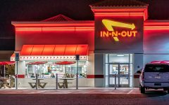 In-N-Out at night.  Labled for reuse by creative common