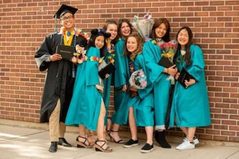 A group of graduates happy to take their next step in life.  Licensed for reuse by Civa charter school