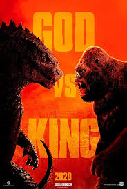 Movie poster for the Godzilla vs King movie. Labeled for Creative Commons.