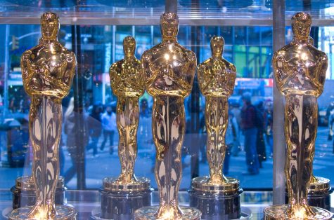Several Oscar trophies await their new holders. Photo credit: Flickr.