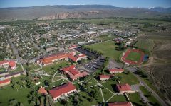 An aerial view of Western Colorado University. Given permission for reuse by Colorado University representative Lindsay Leggett.