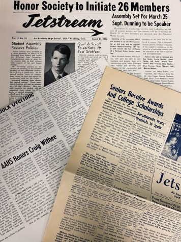 Previous Jetstream Journal newspapers are reviewed from preserved collections. Photo was taken by Copy Editor, Savannah Braden.