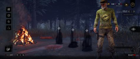 Dead by Daylight, survivor lobby.