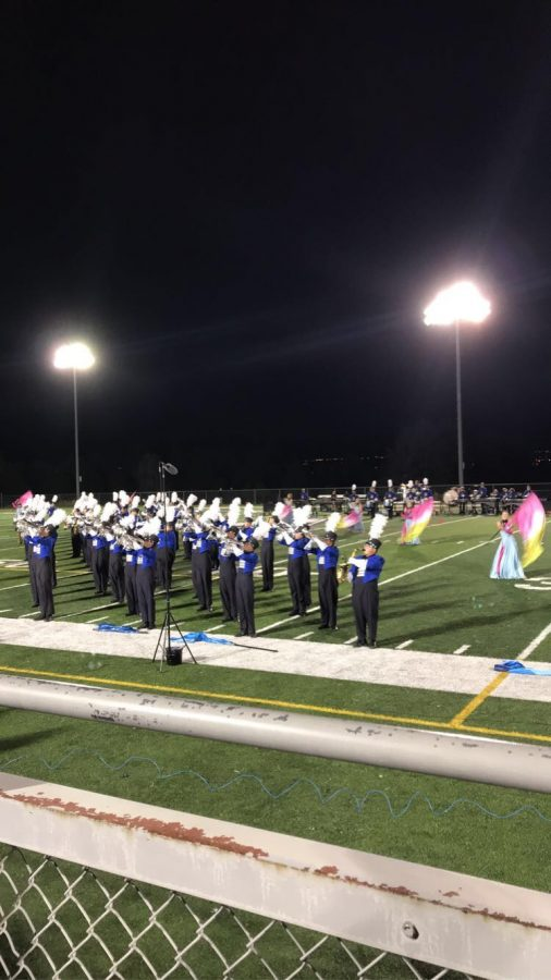 Marching Band preforming Live!