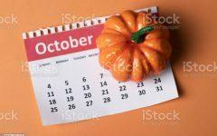 October  calendar with Pumpkin